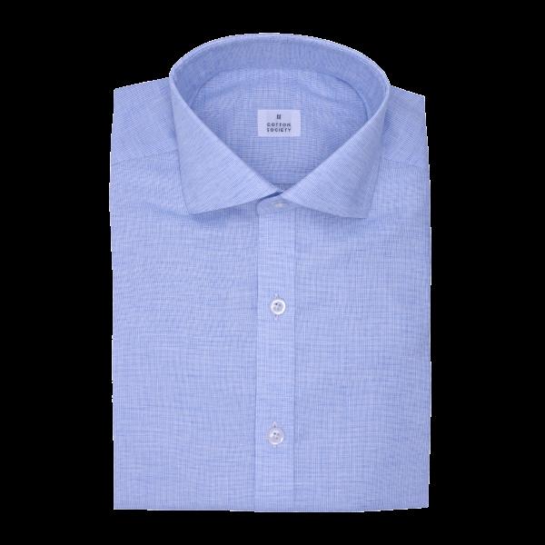 Chemise homme Lin Coton Uni Bleu