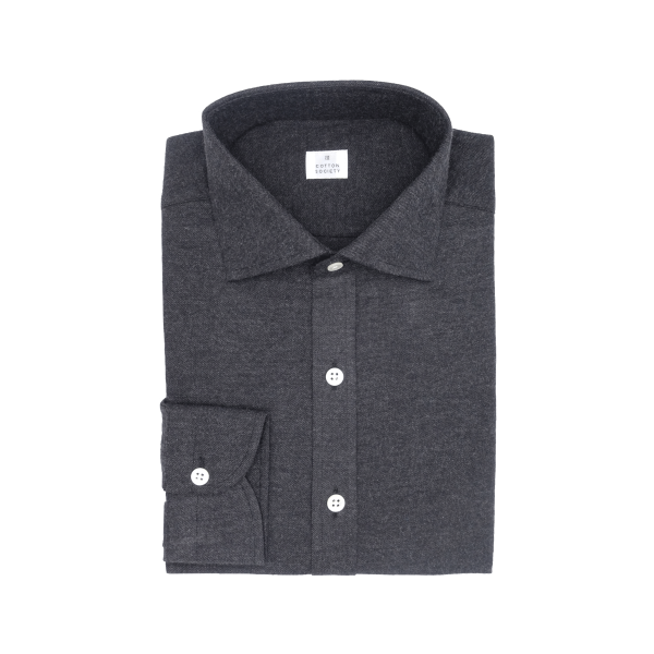 Chemise homme Flanelle Uni Gris Anthracite