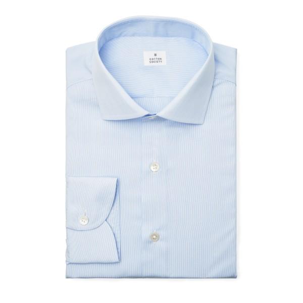 Chemise homme Popeline Rayée Bleu