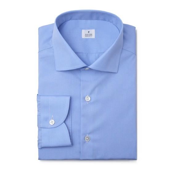 Chemise homme Popeline fil à fil bleue EASY CARE
