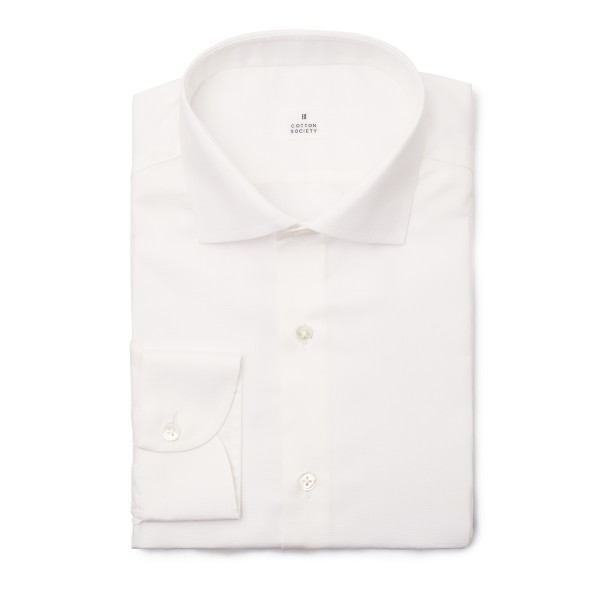 Chemise Oxford Uni Blanc EASY CARE