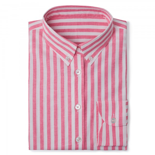 Chemise homme Lin Coton Rose