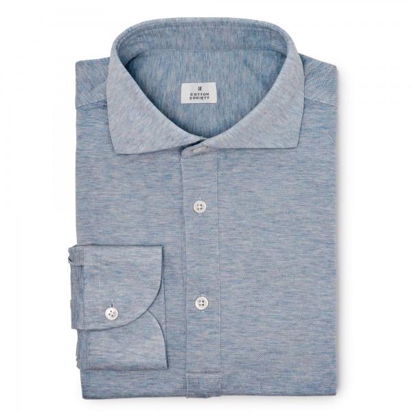 Chemise homme Jersey Bleu Chiné
