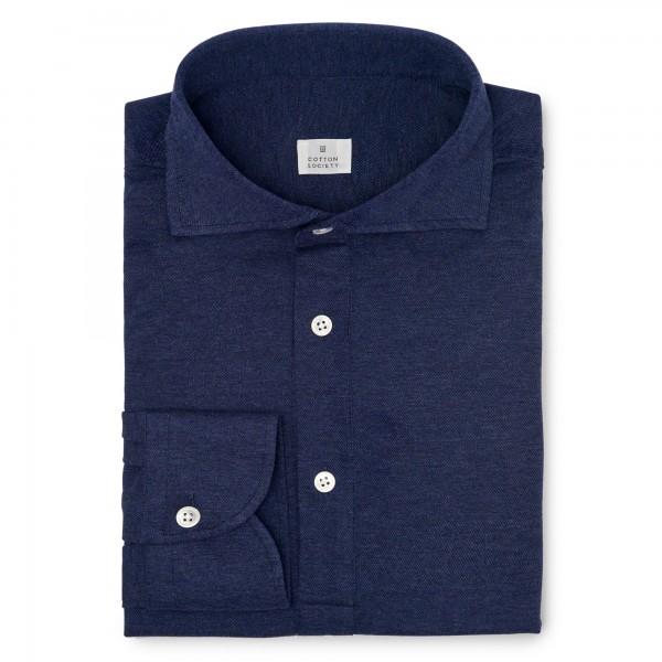 Chemise homme Jersey Uni Bleu Denim Chiné