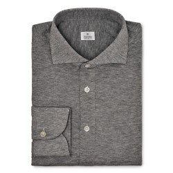 Chemise homme Jersey Gris Chiné