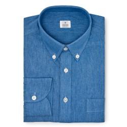 Chemise homme Jean Uni Bleu