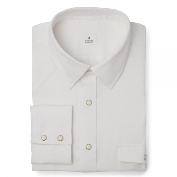 Chemise homme Denim Uni Blanc