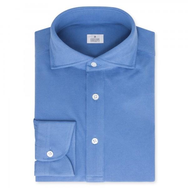 Chemise homme Jersey Uni Bleu Roi