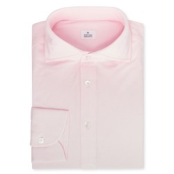 Chemise homme Jersey Uni Rose Clair