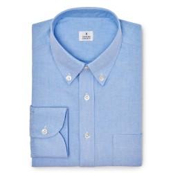 Chemise homme Oxford Uni Bleu Clair