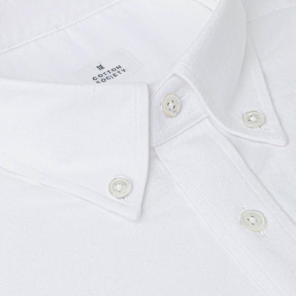 Chemise homme Oxford Brossé Uni Blanc