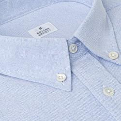 Chemise homme Oxford Brossé Uni Bleu