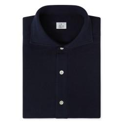 Chemise homme Jersey Japonais Uni Bleu Marine