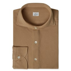 Chemise homme Jersey Uni Taupe