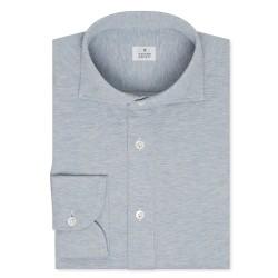 Chemise homme Jersey Uni Bleu clair chiné