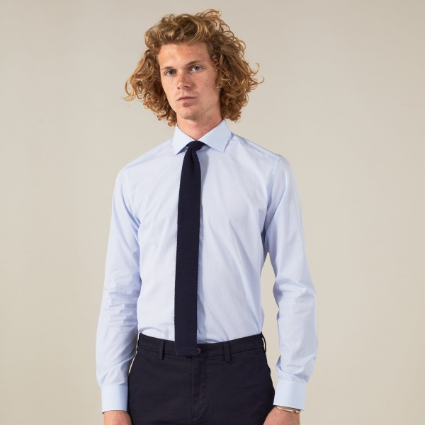 Chemise homme OFFICE Popeline carreaux bleu