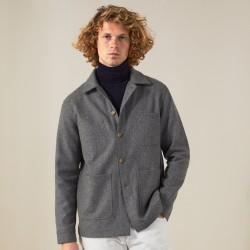 Précommande - Veste de travail laine grise
