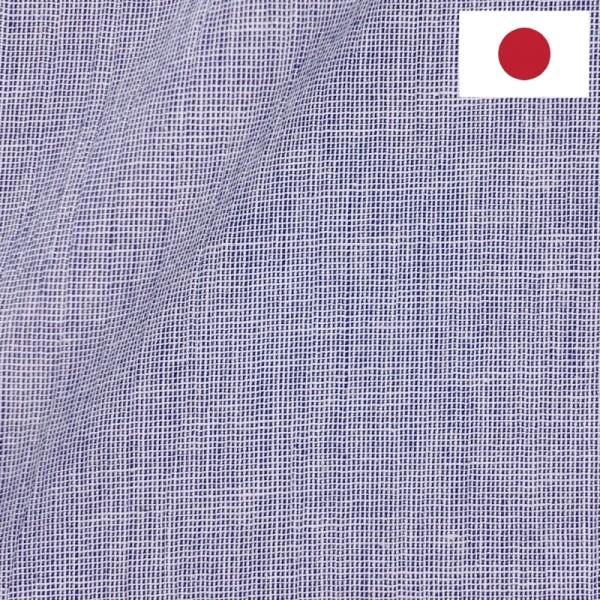 Lin Japonais Uni Bleu