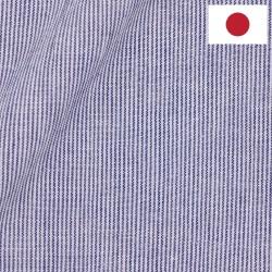 Lin Japonais Rayé Bleu