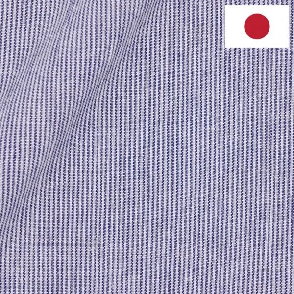 Lin Japonais Rayé Bleu2