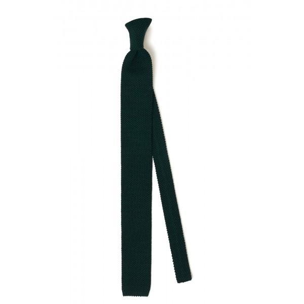 Cravate Tricot 100% laine Bordeaux