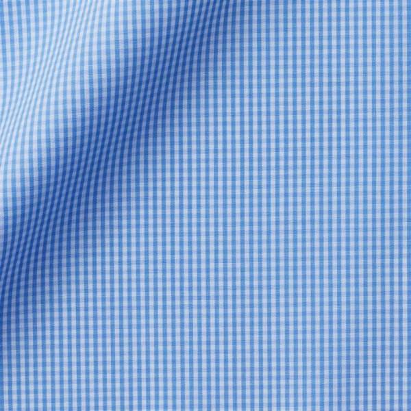Popeline Carreaux Bleu