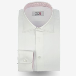 Chemise homme pin-point Uni Blanc