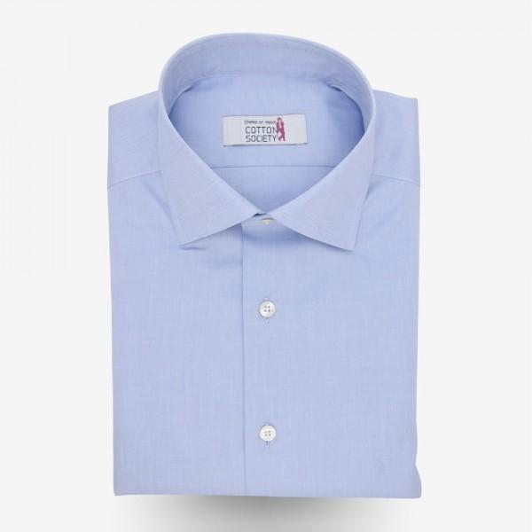 Chemise homme pin-point Uni Bleu