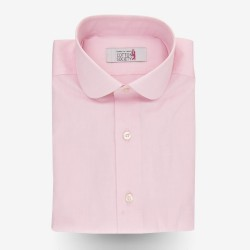 Chemise homme Pin-point Uni Rose
