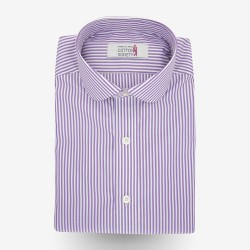 Chemise homme Popeline Rayé Violet