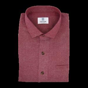Image chemise chambray uni rouge