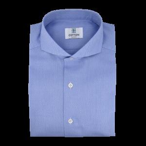 Image chemise oxford uni bleu