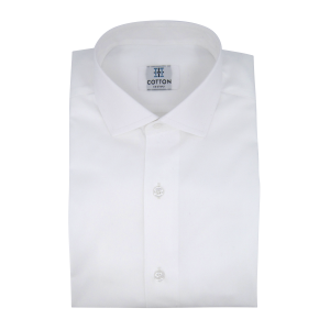 Image chemise twill uni blanc