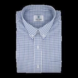 Chemise carreaux bleu