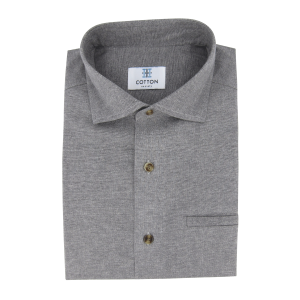 Chemise homme Chambray Uni Gris