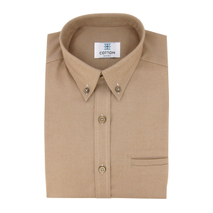Chemise homme Flannelle Uni Beige