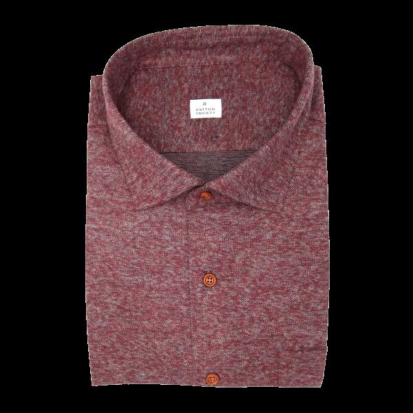 Chemise homme Jean Uni Rouge