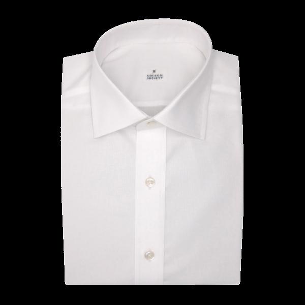 Chemise homme Oxford Uni Blanc