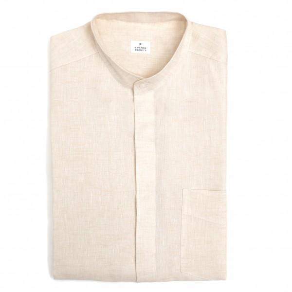 Chemise homme Chambray Uni Blanc Cassé