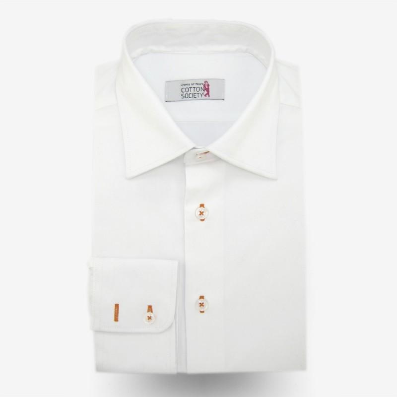 chemise sur mesure blanche 80s double retors. Black Bedroom Furniture Sets. Home Design Ideas