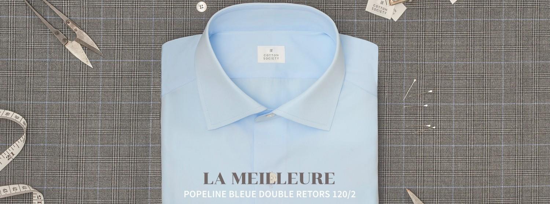 Popeline bleue ciel double retors 120/2, oui monsieur!